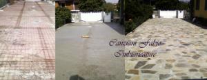 Canziani Imbiancature - posa pietre serizzo esterno