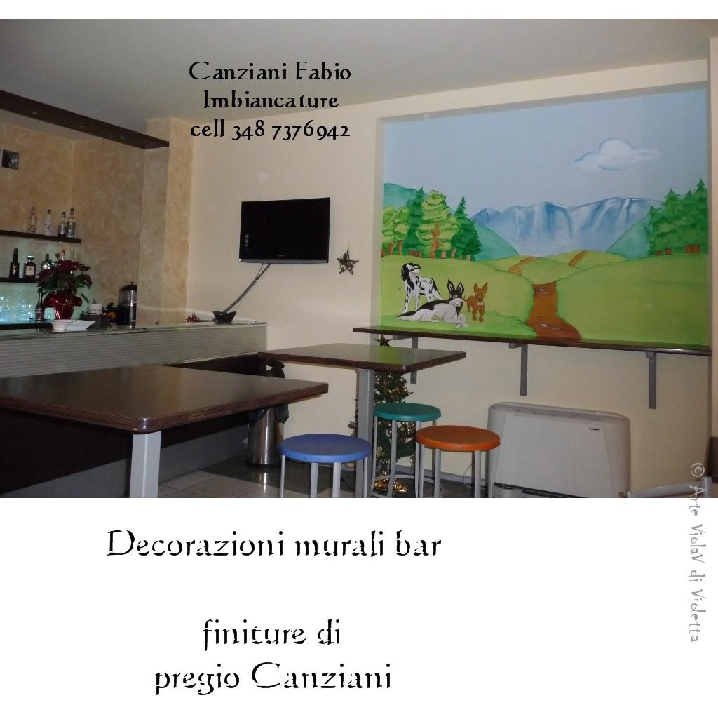 Decorazioni murali bar canziani fabio imbiancature for Decorazioni murali