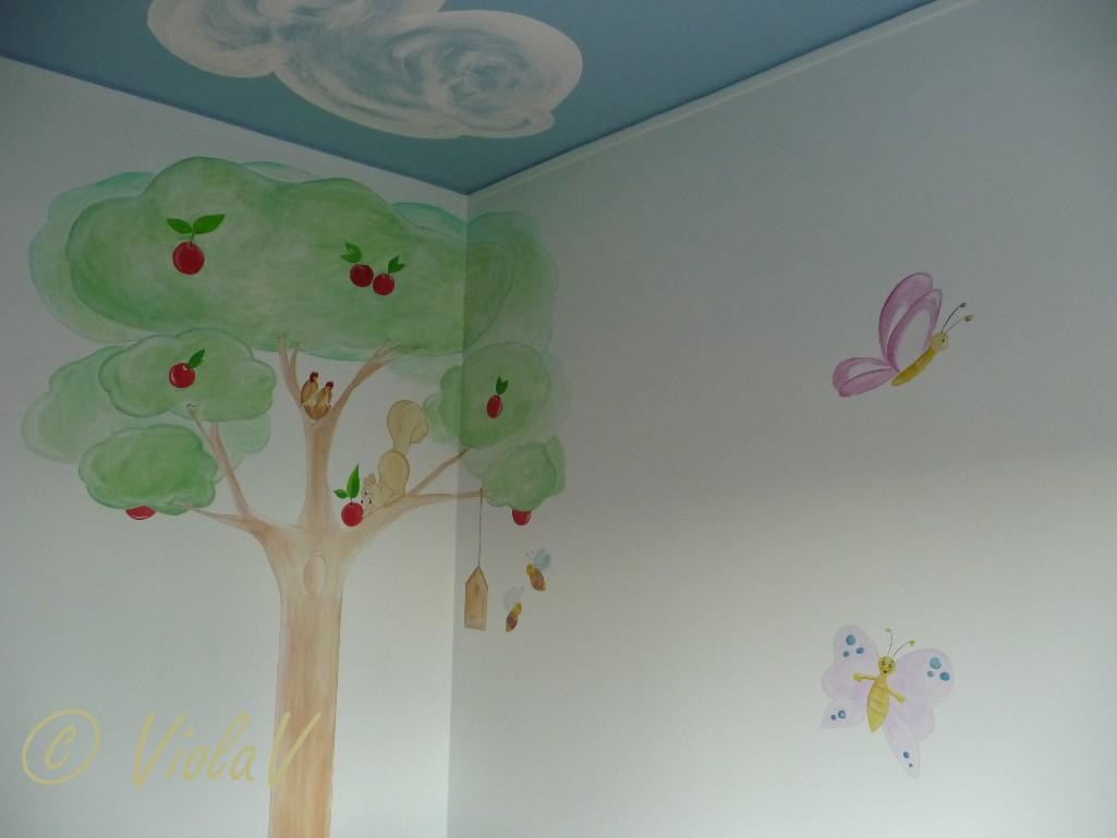 Finest elegant decorazioni pareti camerette per bambini for Decorazioni stanza neonato