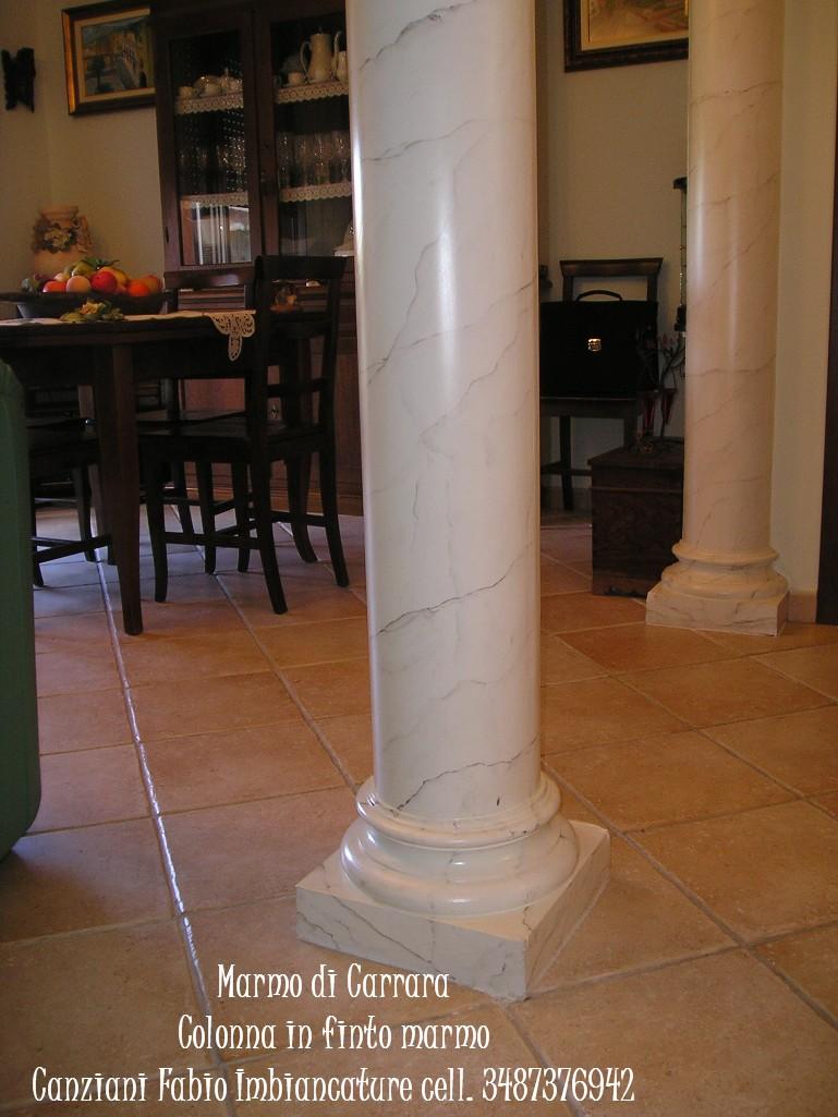 Esecuzione di Finto marmo di carrara - Canziani Fabio