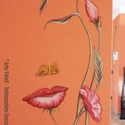 Decorazioni murali canziani fabio imbiancature novara for Decorazioni muro