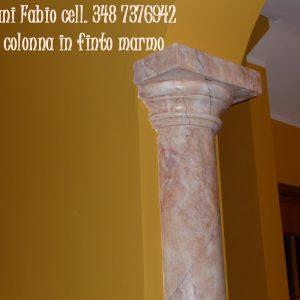 colonne finto marmo © imbianchino imbiancature tinteggiature canziani