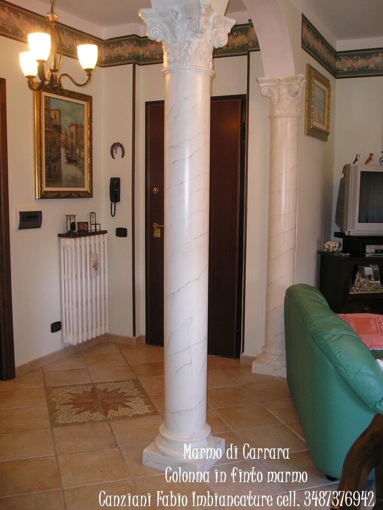 Esecuzione di finto marmo di carrara canziani fabio for Come costruire colonne in stile artigiano